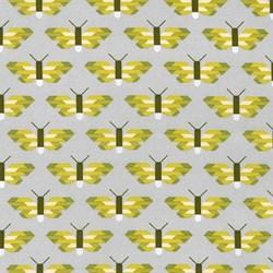 "18"" Remnant - Paintbox Basics Pickle Butterflies by Elizabeth Hartman for Robert Kaufman Fabrics"