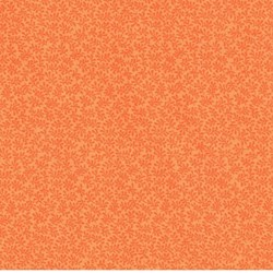 "End of bolt - 42"" - Bear Essentials - Orange Tonal Mini Leaves - by P&B Textiles"
