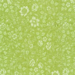 "End of Bolt - 66"" - Piccadilly - Chartreuse Tonal Small Floral with Silver Metallic Shimmer - by Paintbrush Studios"