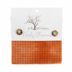 "Wooly Charm Pack - 5"" x 5"" -<br> 5 Textures Per Pack  -- Primitive Pumpkin"