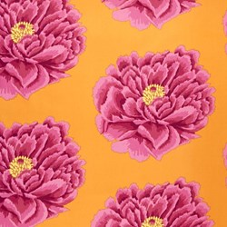 """24"""" x 108"""" Remnant - Full Bloom Wide Cotton Sateen Quilt Backing by Kaffe Fassett - Pink"""