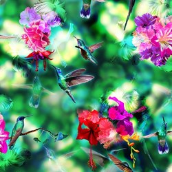R4389-295-Hummingbird-  Hoffman Digital Spectrum Print - Opal
