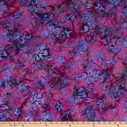 "27"" Remnant - Island Batik 100 % RAYON - Raspberry Fusion"