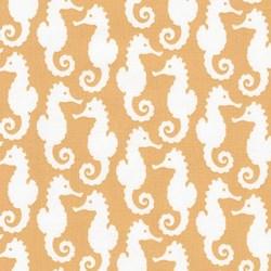 Reef - Mustard Seahorse - by Elizabeth Hartman for Robert Kaufman Fabrics