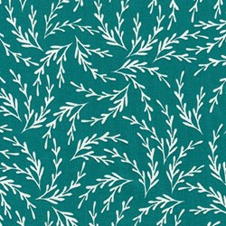 "End of Bolt - 65"" - Reef - Teal Seaweed - by Elizabeth Hartman for Robert Kaufman Fabrics"