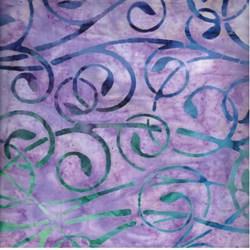 Robert Kaufman Artisan Batiks - Fancy Feathers - Peacock Swirls