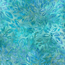 Robert Kaufman Artisan Batiks - Fancy Feathers - Aqua Leaf