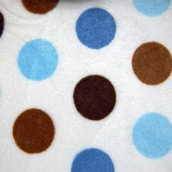 "Mocha & Blue  Cuddle Jumbo Dot Minky - 60"" wide"
