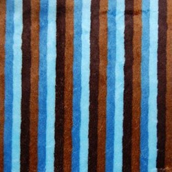 "Mocha & Blue Cuddle Stripe Minky - 60"" wide"