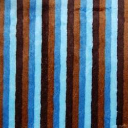 """Mocha & Blue Cuddle Stripe Minky - 60"""" wide"""