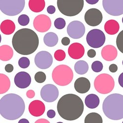 """Lilac & Hot Pink Bubble  Shannon Cuddle Minky - 60"""" wide"""