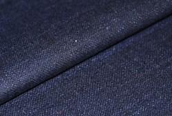 "20"" x 60""  Remnant -Navy/Indigo Silk Matka Fabric"