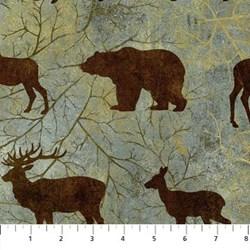 Vintage Find!  Stonehenge- Wilderness Green Forest with Brown Animals