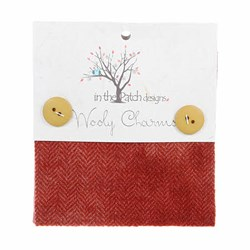 "Wooly Charm Pack - 5"" x 5"" - 5 Textures Per Pack  -- Strawberry"