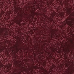 "9"" Remnant  - Tonga Batiks -Lush Collection - Ruby #b9533 - by Timeless Treasures"
