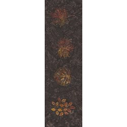 "12"" Remnant - Tonga B5042-Bark - Leaf Prints (4 Leaves Per Remnant)  - Forest Floor Batik by Wing and a Prayer Designs"
