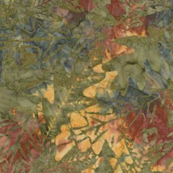 Tonga B9229 Nature's Leaves  - Forest Floor Batik by Wing and a Prayer Designs