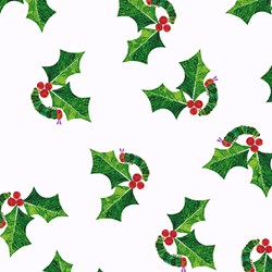 "25"" remnant- The Very Hungry Caterpillar Christmas - Holly - By Eric Carle for Andover Fabrics"