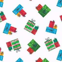 The Very Hungry Caterpillar Christmas - Packages - By Eric Carle for Andover Fabrics