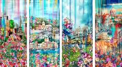 WANDERLUST - Hoffman Spectrum Print 4-Pack