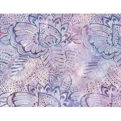 Wilmington Batiks Fronds Lt Blue/Lavender