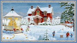 Winter's Eve Quilt Panel - by John Sloane for Wilmington Prints