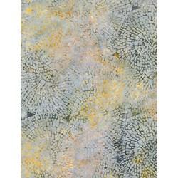 """End of Bolt - 66"""" -  - Tonga Batiks -Mineral Matrix- Winter Circle Mosaic  - by Timeless Treasures"""
