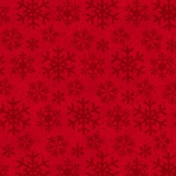 "End of Bolt - 54"" - Frosty Friends 2-Ply Flannel Snowflake Shadows on Red by Henry Glass Fabrics"