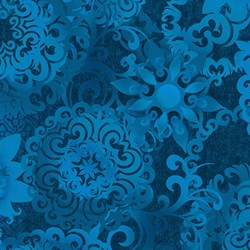 Shadowland IV -Blue SHAD-40  by Kona Bay Fabrics - <i>Retired Fabric!</i>