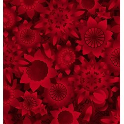 Shadowland IV -Red SHAD-41  by Kona Bay Fabrics - Retired Fabric!