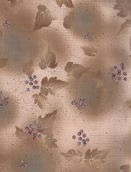 Harmony - Origins - Leaves & Berries Taupe  by Kona Bay Fabrics