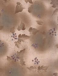 Harmony - Origins - Leaves & Berries Taupe  by Kona Bay Fabrics
