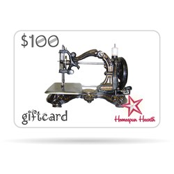 Gift Card - Antique Sewing Machine (Generic)$10, $25, $50, $75, or $100
