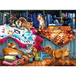 Quilting Room Mischief - 1000 piece puzzle