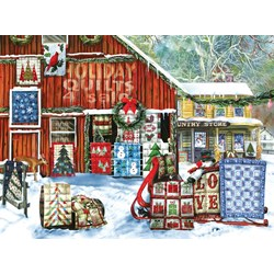 Holiday Quilts Puzzle  - 1000 piece puzzle