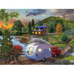 Campers Coming Home Puzzle  - 1000 piece puzzle