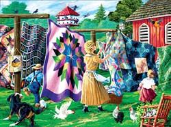 Quilters Clothesline Puzzle  - 1000 piece puzzle