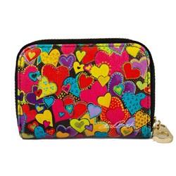 Dancing Hearts Zipper Card (Armored) Wallet