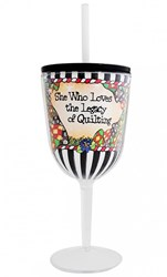Quilt Sisterhood Tingle Wine Glass