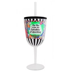 Quilt Artistry Tingle Wine Glass