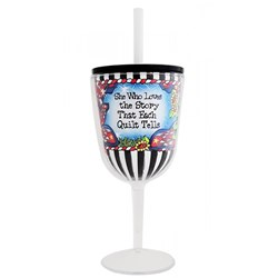 Quilt Story Tingle Wine Glass