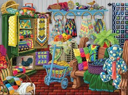 The Quilt Fair Puzzle  - 1000 piece puzzle