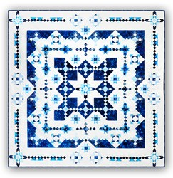 <i>New Version! </i><br>Midwinter Blues Batik King Size<br>Features Island Batik's Constellation Collection<br>Block of the Month or All at Once<br>Starts January 2022