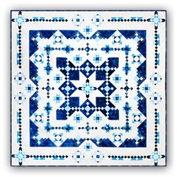 New Version! Midwinter Blues Batik King SizeFeatures Island Batik's Constellation CollectionBlock of the Month or All at OnceStarts January 2022