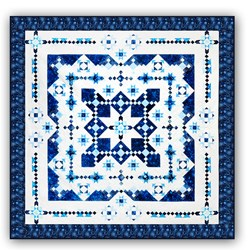 <i>New & Exclusive Version! </i><br>Midwinter Blues EXTRA LARGE KING<br>Features Island Batik's Constellation Collection<br>Block of the Month or All at Once<br>Starts January 2022