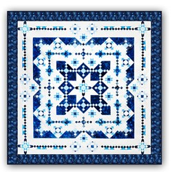 New & Exclusive Version! Midwinter Blues EXTRA LARGE KINGFeatures Island Batik's Constellation CollectionBlock of the Month or All at OnceStarts January 2022