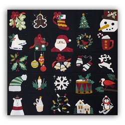 Advent Fun Wall Hanging Wool Fabric Pack - Includes Complete Pattern Download Set