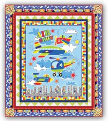 New!  Air Show Quick and Easy Quilt Kit - Includes Backing!