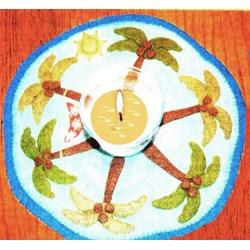 Aloha Candle Mat Wool Felt Pattern