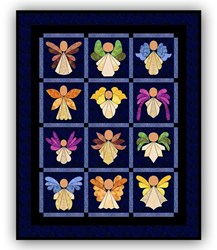 Last One!  - Angels!  Batik Quilt Kit <br><i>Free US Shipping!</i>